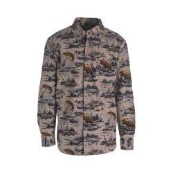 Men's Woolrich Tiadaghton Print Chamois Shirt Canyon