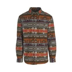 Men's Woolrich Tiadaghton Print Chamois Shirt Olive