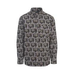 Men's Woolrich Tiadaghton Print Chamois Shirt Slate