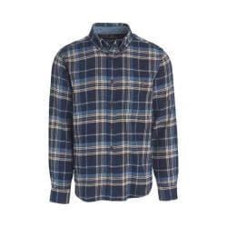 Men's Woolrich Trout Run Shirt Estate Blue