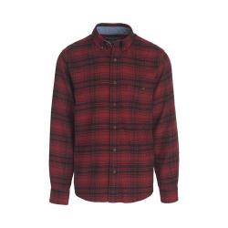 Men's Woolrich Trout Run Shirt Red Hunt Plaid