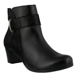 Women's Spring Step Malvolia Bootie Black Leather/Suede
