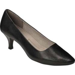 Women's A2 by Aerosoles Foreward Pump Black Faux Leather