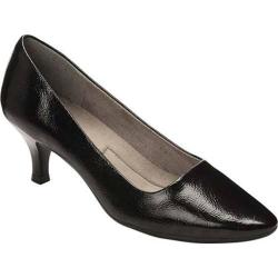 Women's A2 by Aerosoles Foreward Pump Black Faux Patent Leather