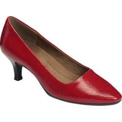 Women's A2 by Aerosoles Foreward Pump Dark Red Faux Patent Leather