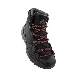Men's adidas CW Winterpitch Mid CP Hiking Boot Black/Scarlet/Chalk Solid Grey