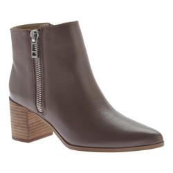 Women's Charles by Charles David Uma Bootie Dark Taupe Leather