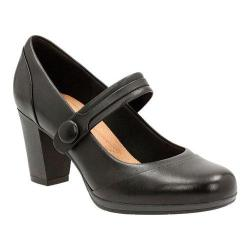 Women's Clarks Brynn Mare Mary Jane Black Leather