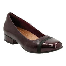 Women's Clarks Keesha Rosa Slip-On Aubergine Leather