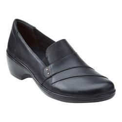 Women's Clarks May Marigold Slip-On Black Cow Full Grain Leather