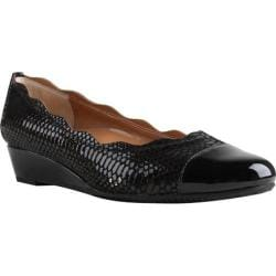 Women's J. Renee Fedosia Slip On Shoe Black/Black Leather