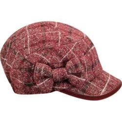 Women's Betmar Mulhouse Cap Bordeaux Plaid
