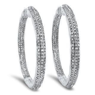 Noori 10k Gold 1 1/2ct TDW Diamond Inside-out Hoop Earrings