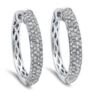 Noori 10k Gold 1ct TDW Diamond Hoop Earrings (I-J, I2-I3)