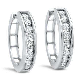 Noori 14k Gold 1ct TDW Diamond Hoop Earrings (I-J, I1-I2)