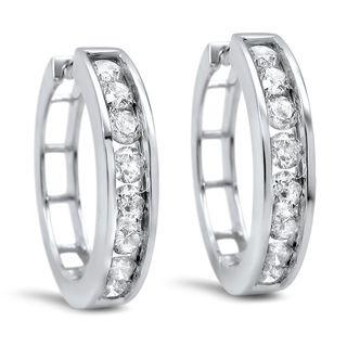 Noori 14k Gold 1ct TDW Diamond Hoop Earrings
