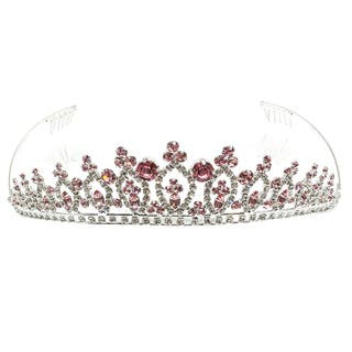 Kate Marie Elinor Metal/Acrylic Tiara with Rhinestones|https://ak1.ostkcdn.com/images/products/12700791/P19483488.jpg?impolicy=medium