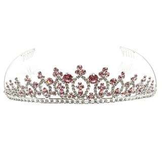 Kate Marie Elinor Metal/Acrylic Tiara with Rhinestones