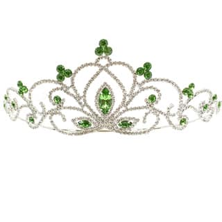 Kate Marie Constance Rhinestone Tiara (Option: Green)|https://ak1.ostkcdn.com/images/products/12700801/P19483497.jpg?impolicy=medium