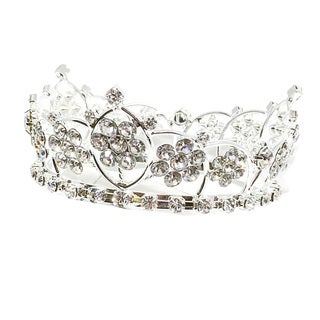 Kate Marie Lovell Silvertone Metal and Acrylic Rhinestone Tiara