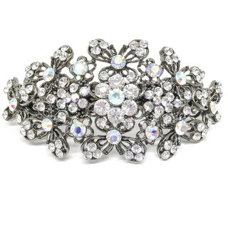 Kate Marie Audeley Rhinestone Tiara Barrette (Option: Black)
