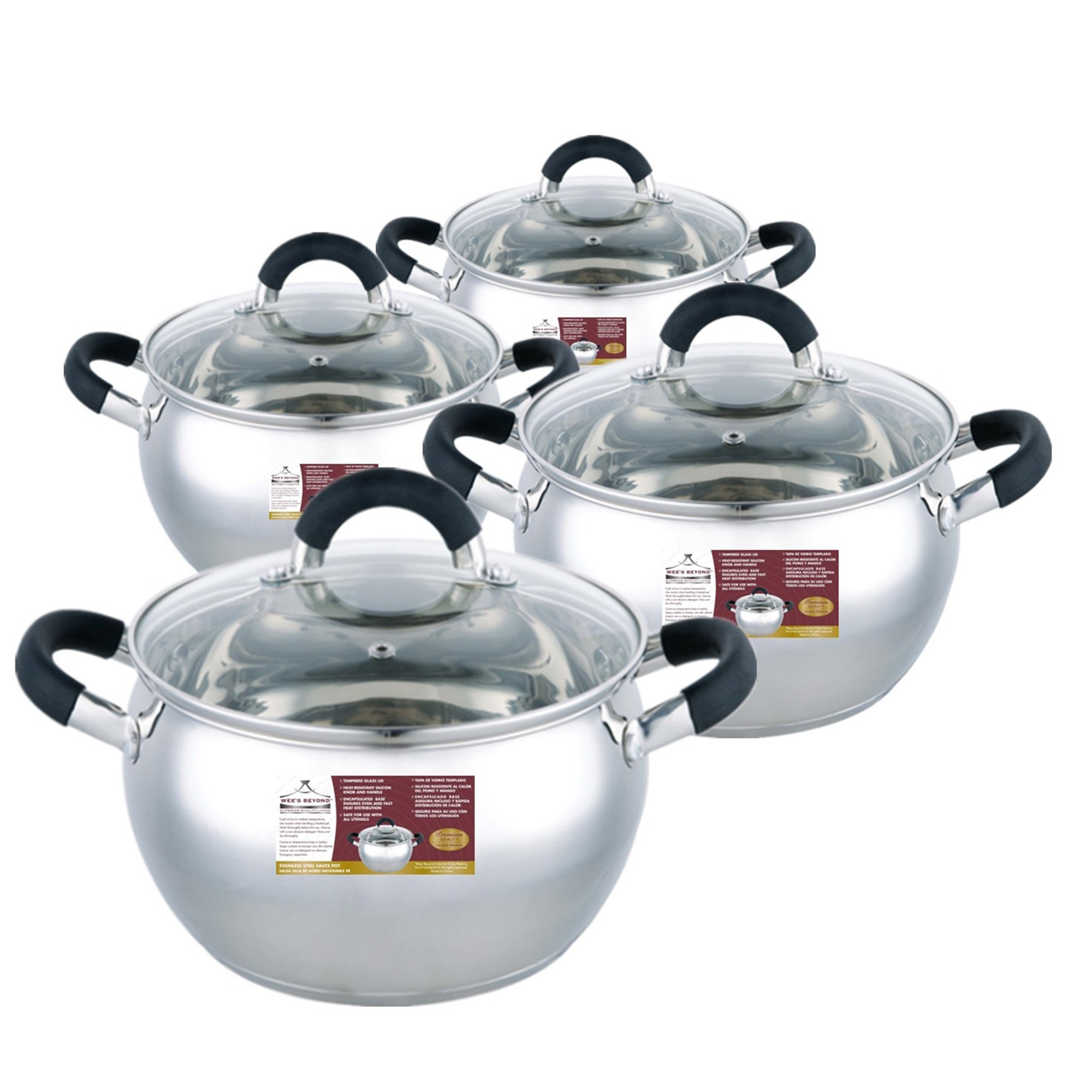 Wee' s Beyond Stainless Steel Apple-shape Sauce Pot Set (...