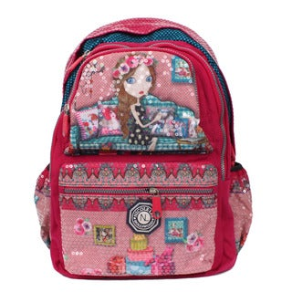 Nicole Lee Hailee Iris Sequined Wrinkle-resistent Crinkled Nylon Laptop Backpack