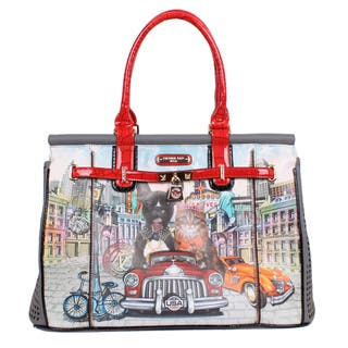 Nicole Lee City Drive Print 21-inch Overnighter Laptop Tote Bag|https://ak1.ostkcdn.com/images/products/12701124/P19483709.jpg?impolicy=medium