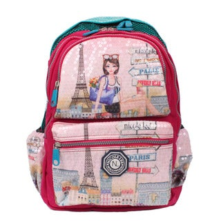 Nicole Lee Hailee Chloe Multicolored Crinkled Nylon Sequined Laptop Backpack