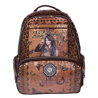 Nicole Lee Hailee Trinity Multicolored Crinkled Nylon Sequined Laptop Backpack