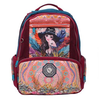 Nicole Lee Hailee Sandra Goes Bohemian Sequined Wrinkle Resistent Crinkled Nylon Laptop Backpack