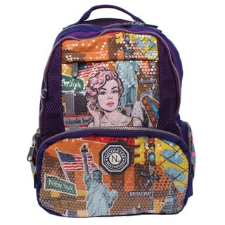 Nicole Lee Hailee Donna Multicolored Nylon Sequined Laptop Backpack