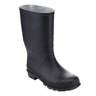 Jelly Beans Girl's Black Mid-calf Rain Boots