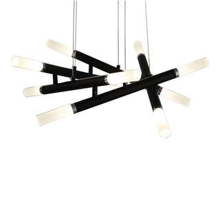 OVE Decors Flavian Black Finish LED Integrated Pendant