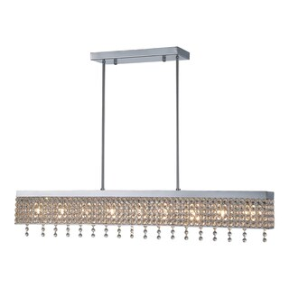 OVE Decors Castello Chrome Finish LED-integrated Chandelier