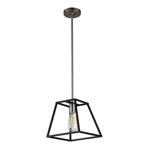 OVE Decors Agnes I Black-finish Iron LED Integrated Pendant Light Fixture