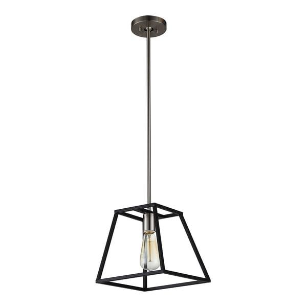 Led Light Fixture Flashing On And Off: Shop OVE Decors Agnes I Black-finish Iron LED Integrated