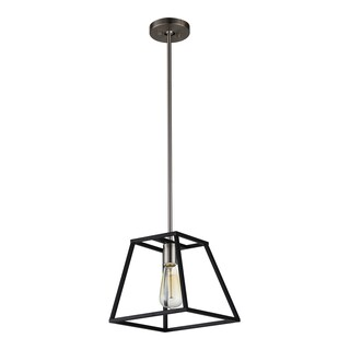 OVE Decors Agnes I Black-finish Iron LED Integrated Pendant Light Fixture