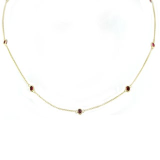 One-of-a-kind Michael Valitutti 14k Rubellite Necklace