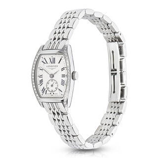 Pre-Owned Ladies Longines Evidenza L2.175.0.71.6 Steel & Diamond Quartz Watch