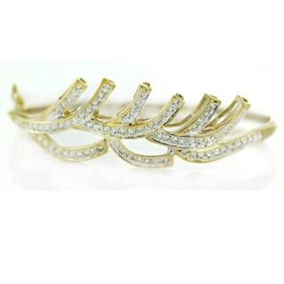 One-of-a-kind Michael Valitutti 14k Cubic Zirconia Bangle Bracelet