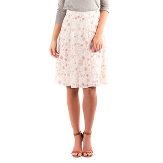 DownEast Basics Women's Invitation Only Floral Skirt