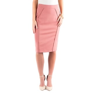DownEast Basics Women's Rayon/Polyester/Spandex Slice and Dice Skirt