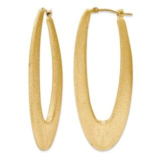 Gold over Silver 2-inch Elongated Satin Hoop Earrings|https://ak1.ostkcdn.com/images/products/12704326/P19486449.jpg?impolicy=medium