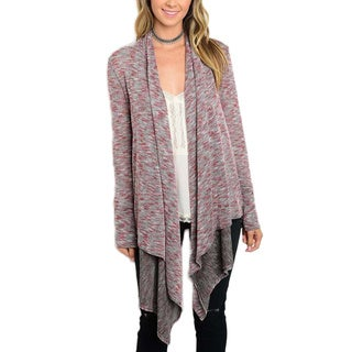 Jed Women's Long Sleeve Cascading Marled Cardigan Sweater