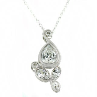 One-of-a-kind Michael Valitutti Multi Cubic Zirconia Pendant