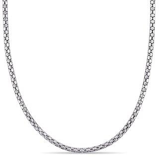 Miadora Popcorn Link Necklace in 18k White Gold