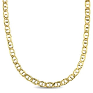 Mariner-Style Link Necklace in 10k Yellow Gold by Miadora