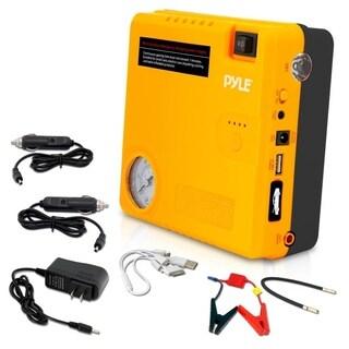Pyle PBPK52 Roadside Emergency Tool, 4-in-1 Jump Start, Air Pressure Tire Pump, Power Bank, Flashlight