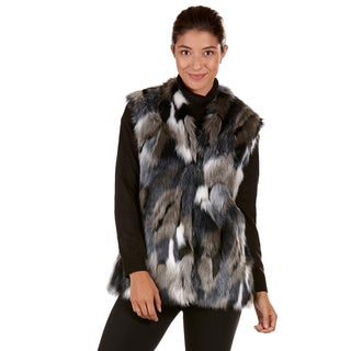 Nuage Women's Multicolor Faux Fur Patchwork Vest